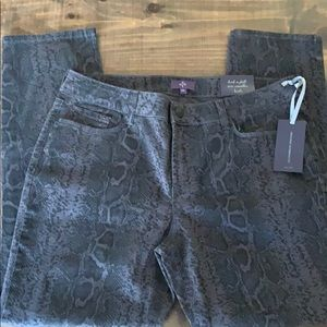 NYDJ Jeans - Animal print skinny jeans
